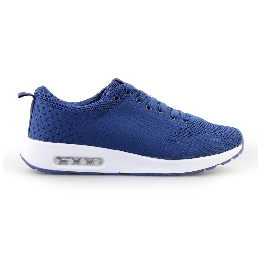 Ανδρικά Sneakers με πλεκτό σχέδιο και αερόσολα Μπλε/Λευκό