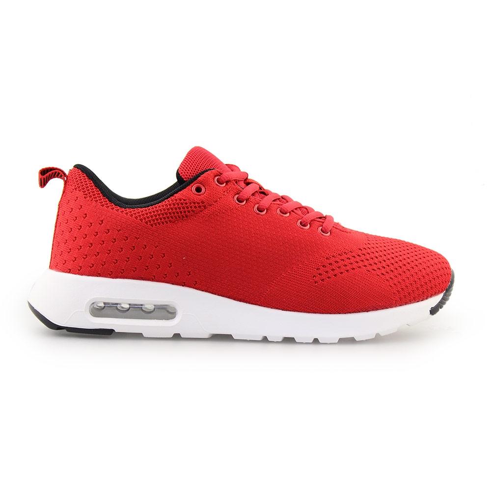 Ανδρικά Sneakers με πλεκτό σχέδιο και αερόσολα Κόκκινο/Λευκό