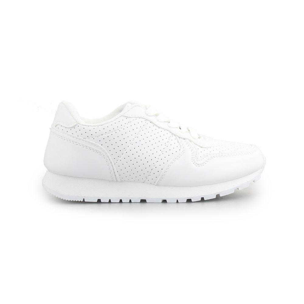 Παιδικά sneakers με κορδόνια και λεπτομέρειες Λευκό