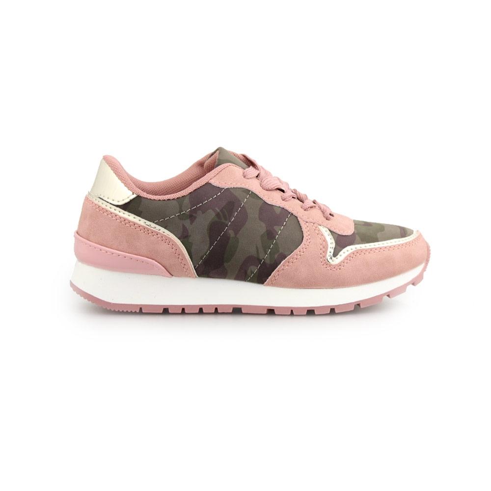 Παιδικά sneakers με κορδόνια και λεπτομέρειες Ροζ/Παραλλαγής
