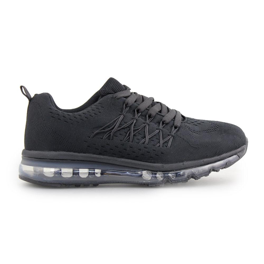Ανδρικά sneakers μονόχρωμα με αερόσολα Μαύρο