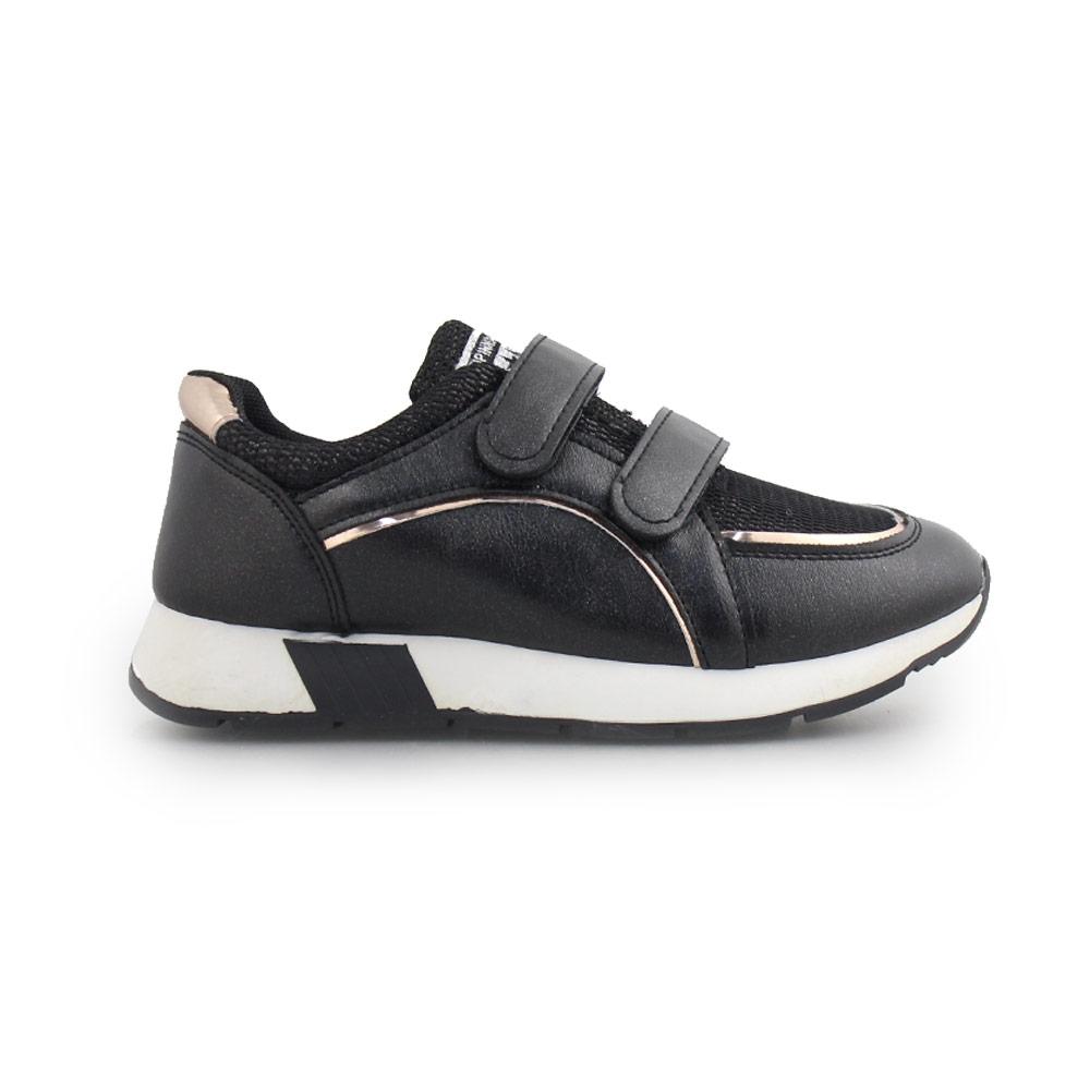 Παιδικά sneakers με μεταλλιζέ λεπτομέρεια και αυτοκόλλητα Μαύρο