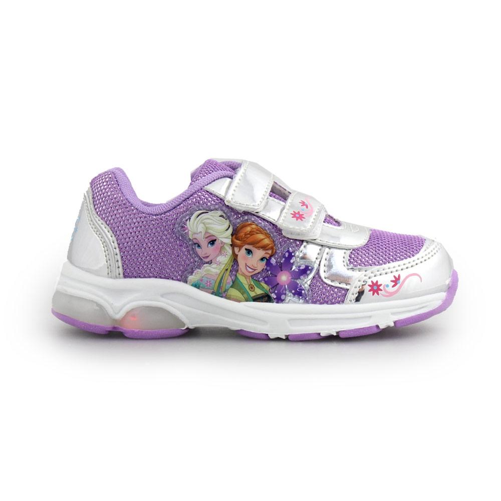 Παιδικά αθλητικά με πριγκίπισσες Frozen και φωτάκια Ασημί