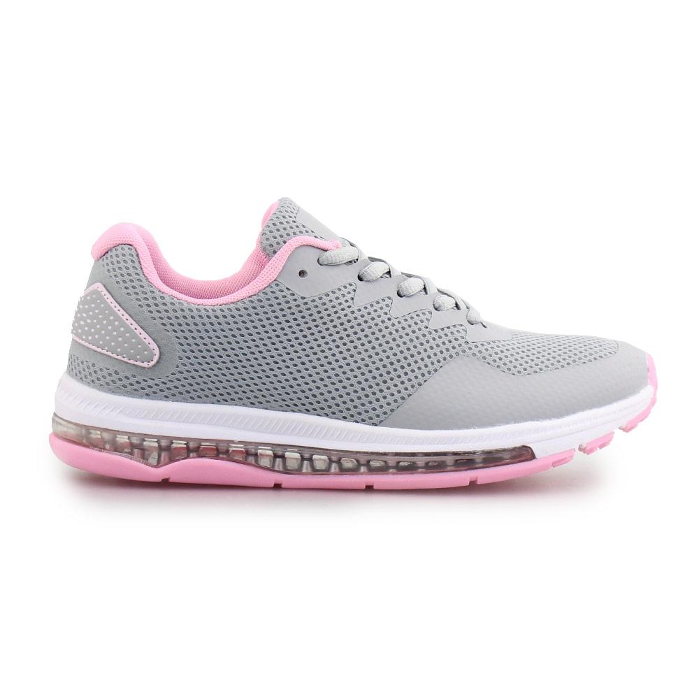 Γυναικεία sneakers με αερόσολα Γκρι/Ροζ