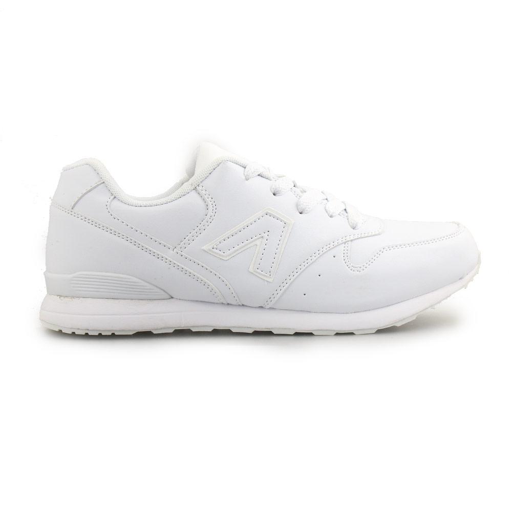 Ανδρικά sneakers με λεπτομέρεια στο πλάι Λευκό