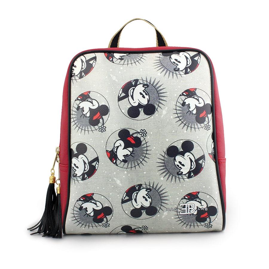 Γυναικεία σακίδια πλάτης με Mickey mouse Κόκκινο