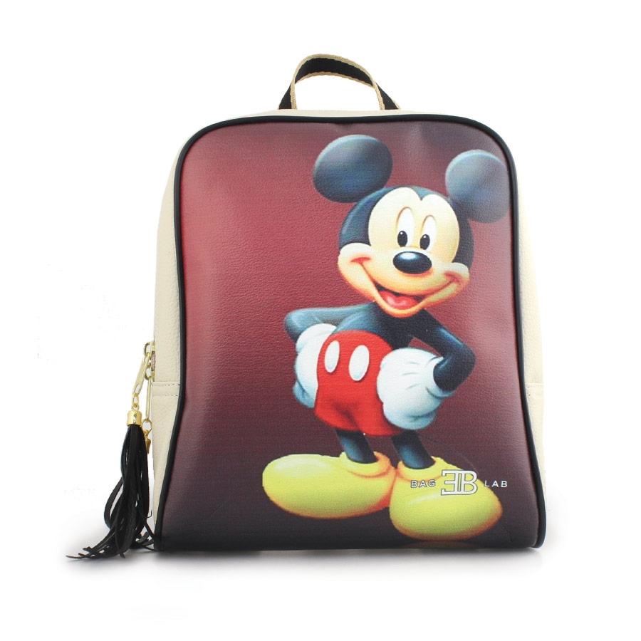 Γυναικεία σακίδια πλάτης με Mickey mouse Μπεζ