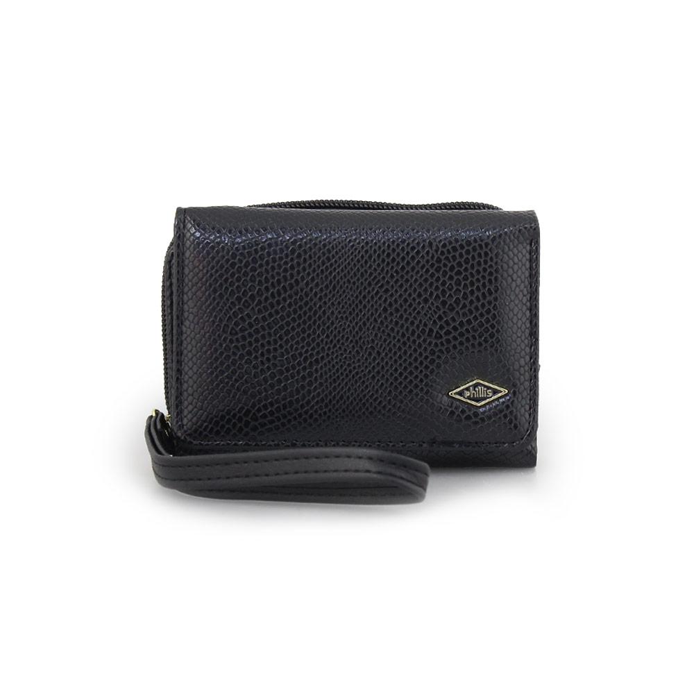 Γυναικεία πορτοφόλια με snake μοτίβο Μαύρο