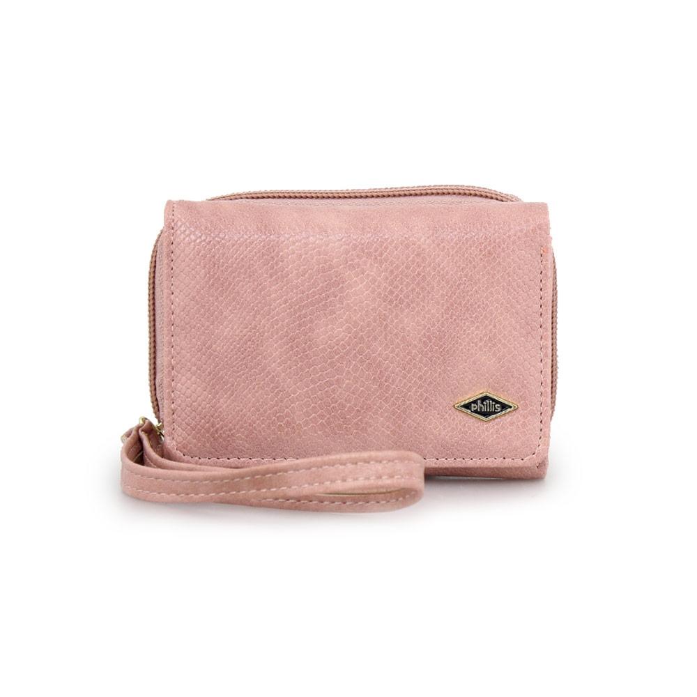 Γυναικεία πορτοφόλια με snake μοτίβο Ροζ