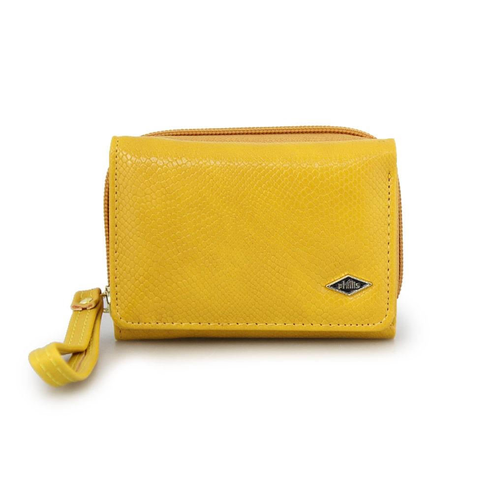 Γυναικεία πορτοφόλια με snake μοτίβο Κίτρινο
