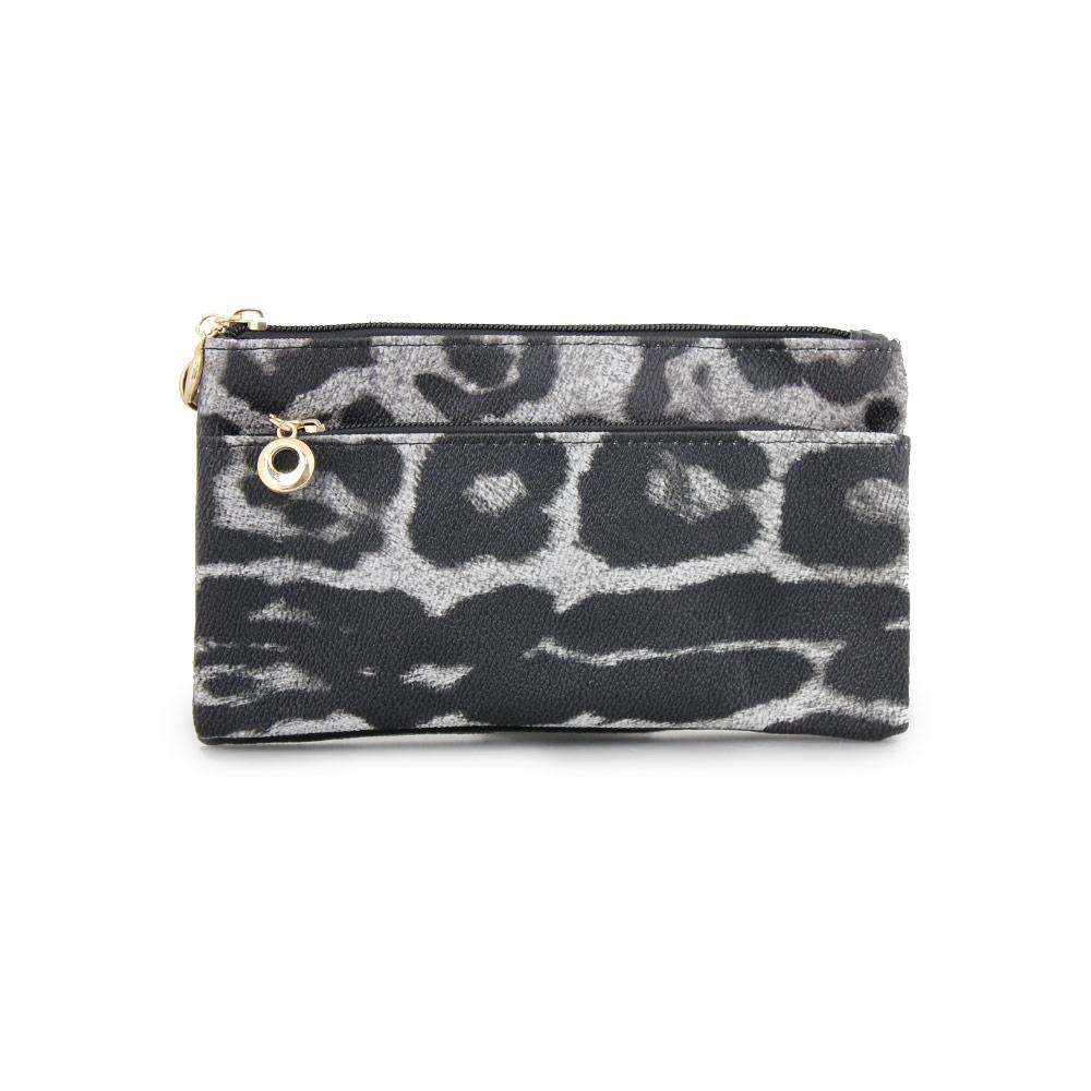 Γυναικεία πορτοφόλια animal print Μαύρο