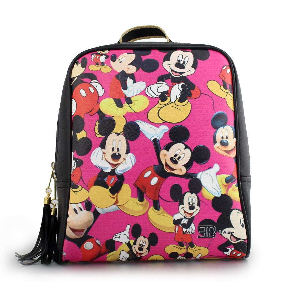 Γυναικεία σακίδια πλάτης με φιγούρες Mickey mouse Μαύρο