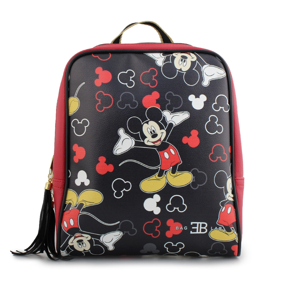 Γυναικεία σακίδια πλάτης με print Mickey mouse Κόκκινο