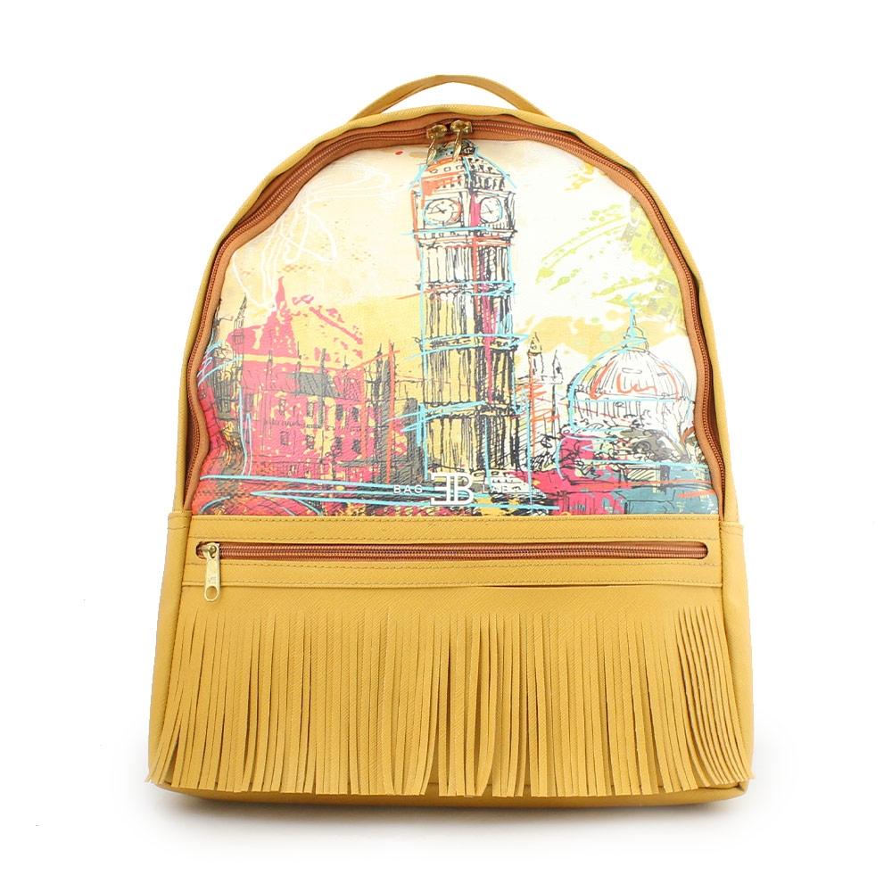Γυναικεία σακίδια πλάτης με Big Ben Κίτρινο