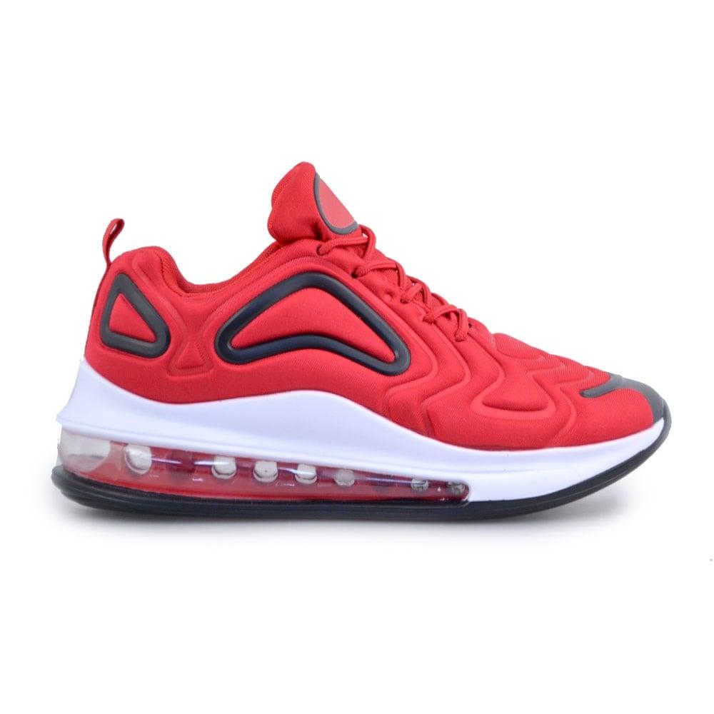 Ανδρικά sneakers με αερόσολα και ανάγλυφα σχέδια Κόκκινο/Μαύρο