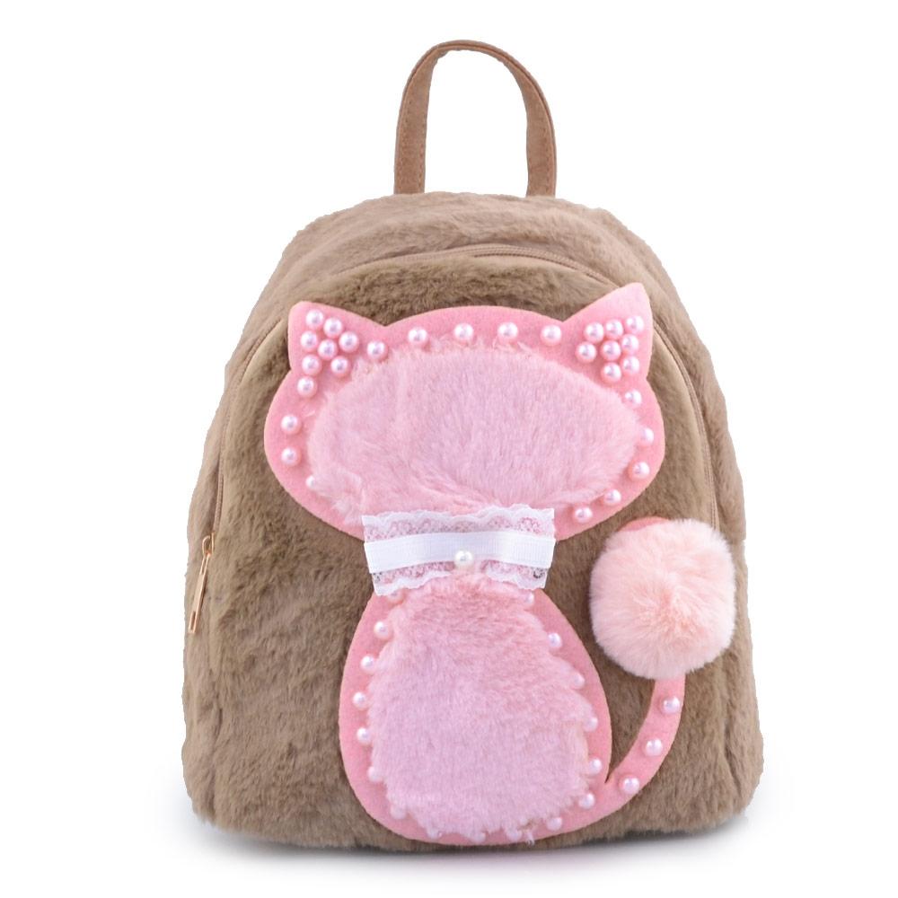 Παιδικά σακίδια πλάτης με γατάκι και πέρλες Πούρο