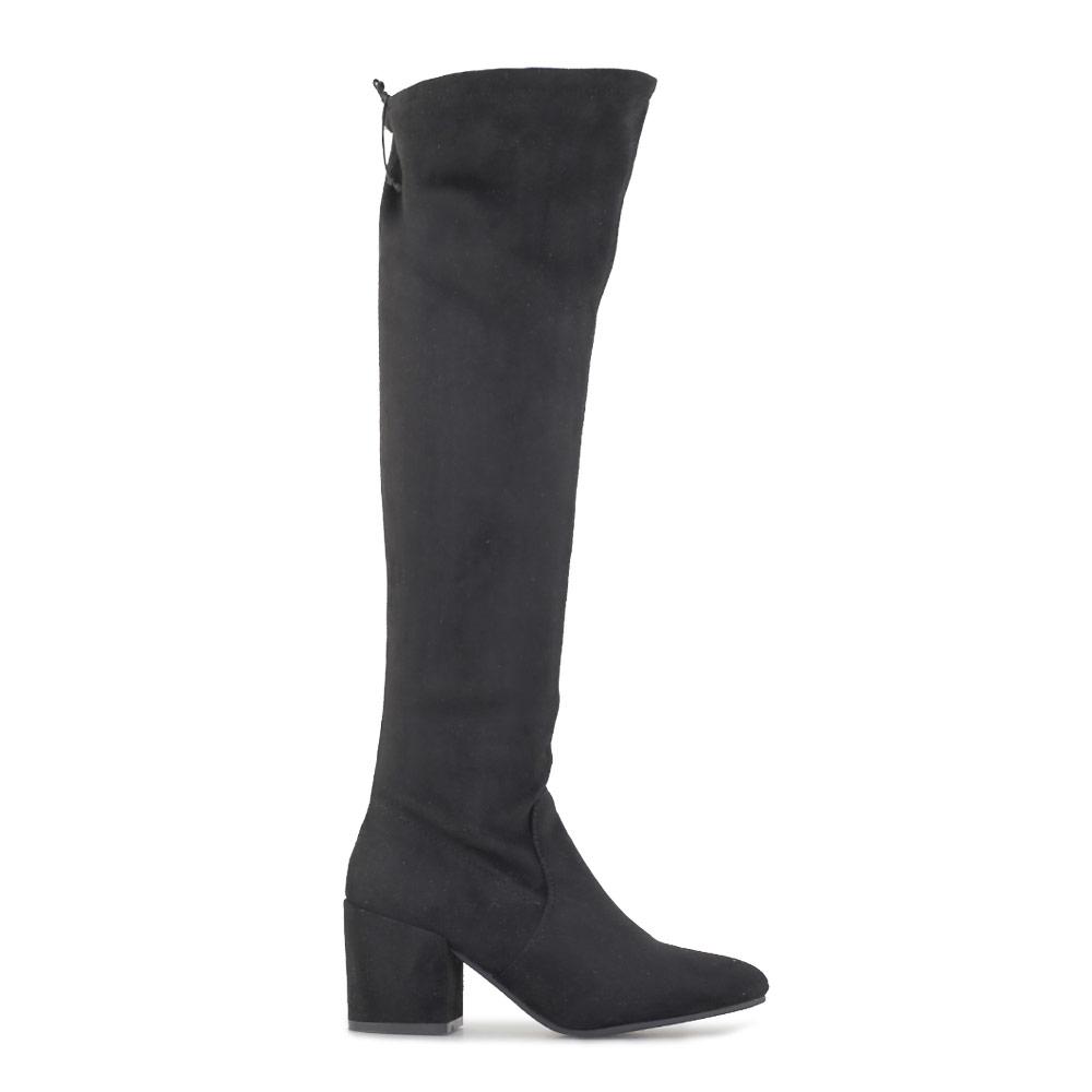Γυναικείες μπότες μονόχρωμες Μαύρο