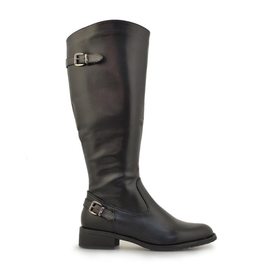 Γυναικείες μπότες σε απλή γραμμή Μαύρο
