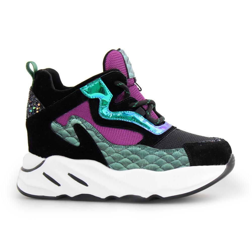 Γυναικεία sneakers με fish scale λεπτομέρεια Multi