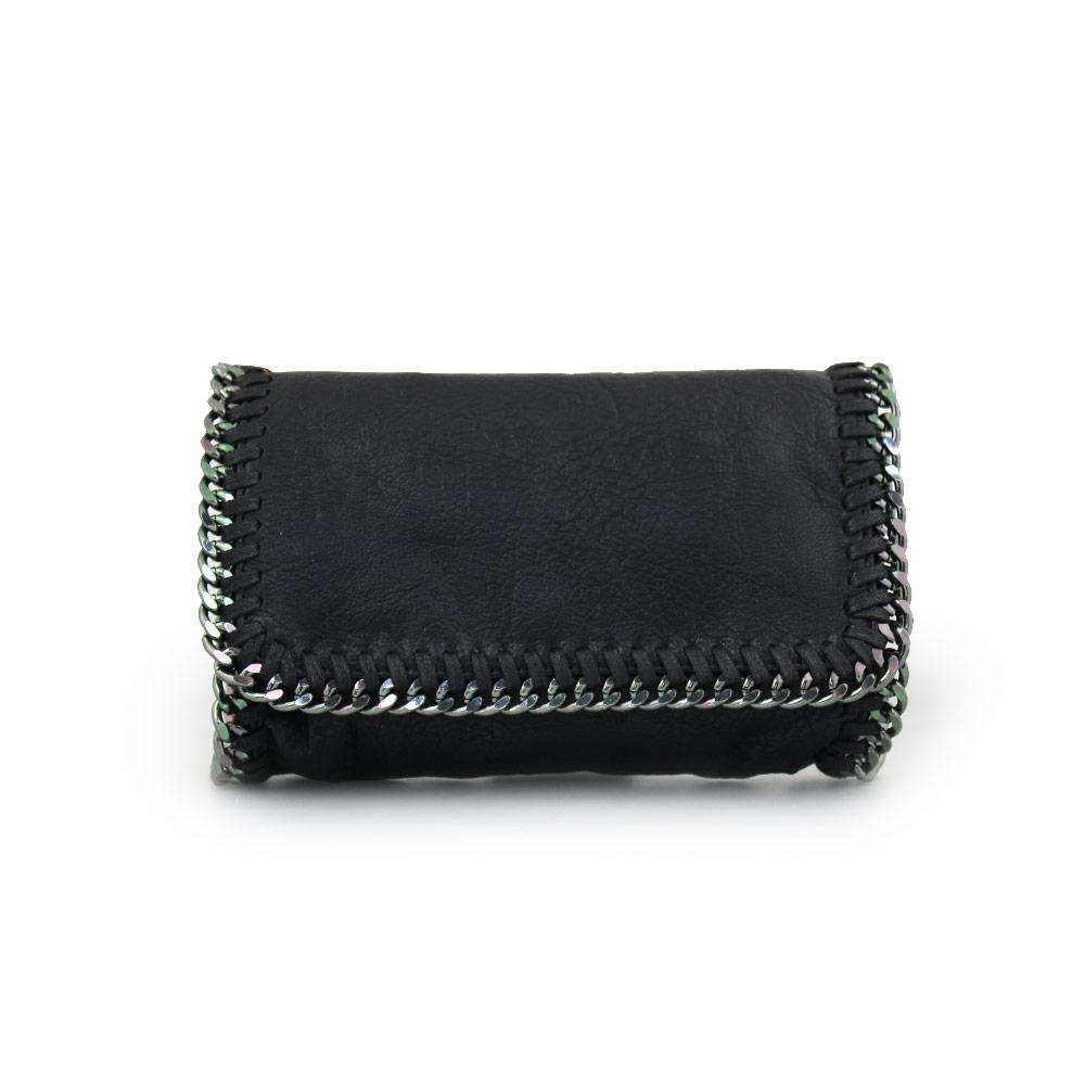 Γυναικείες τσάντες ώμου με διακοσμητική αλυσίδα Μαύρο