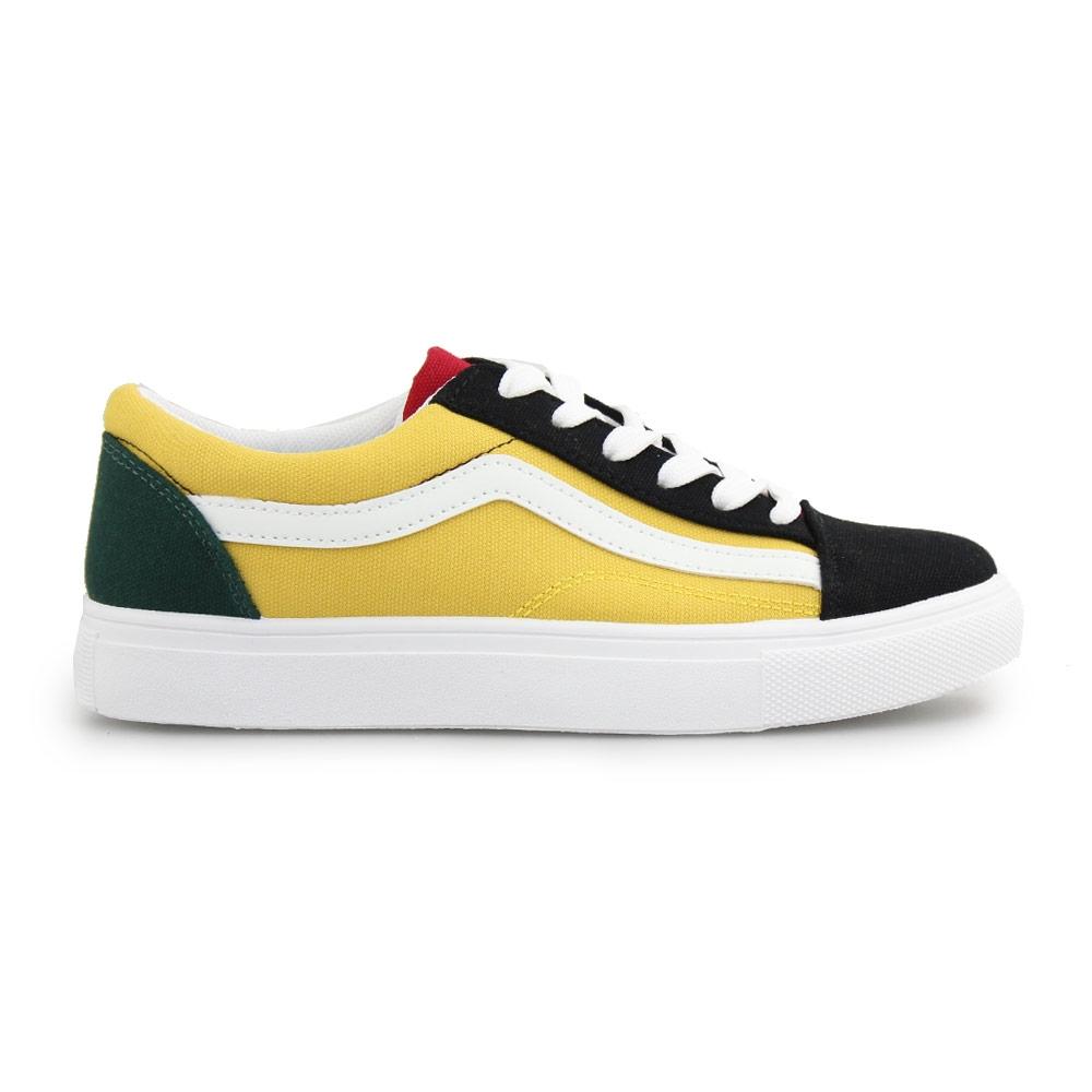 Γυναικεία sneakers με λευκή ρίγα Κίτρινο