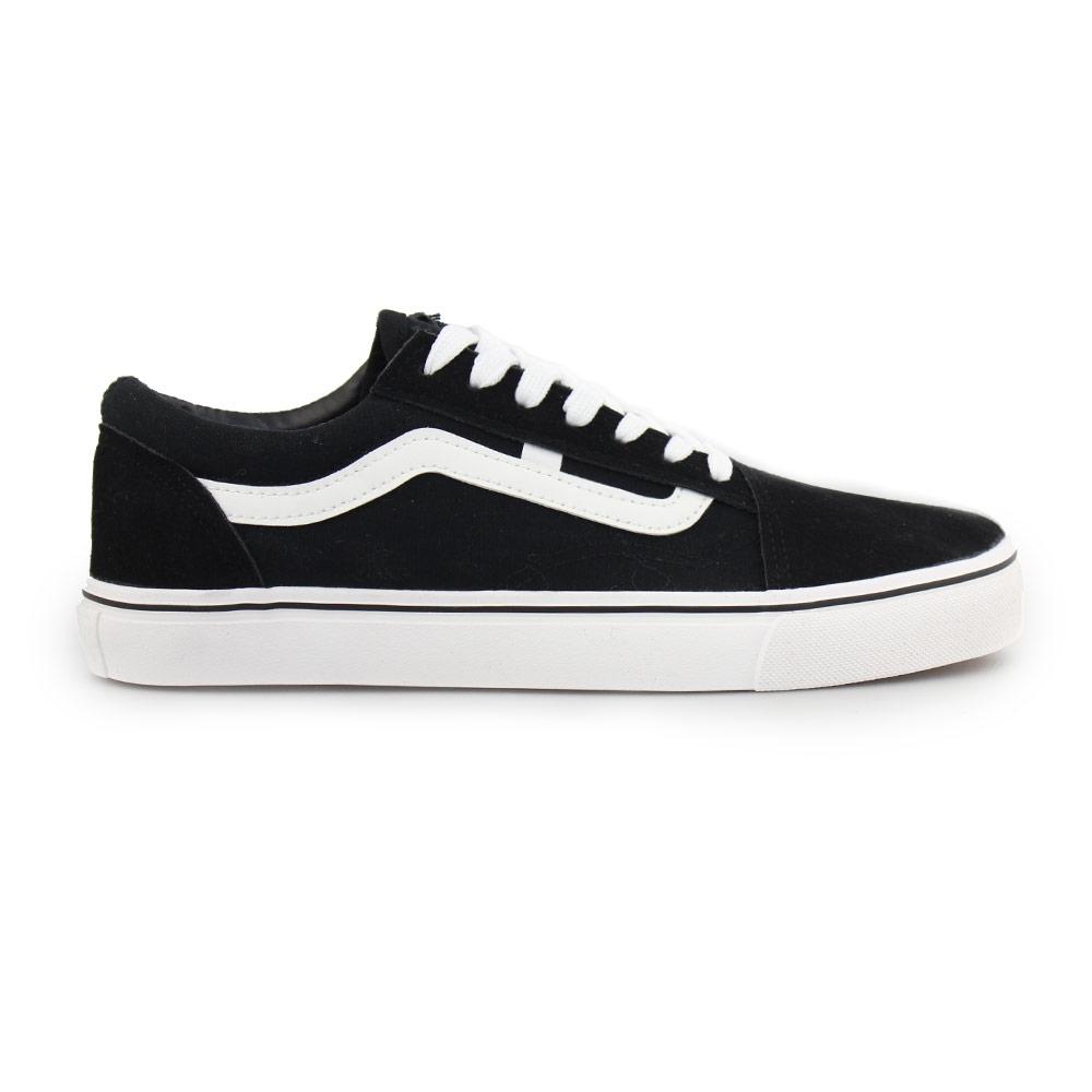 Γυναικεία sneakers με λευκή ρίγα Μαύρο