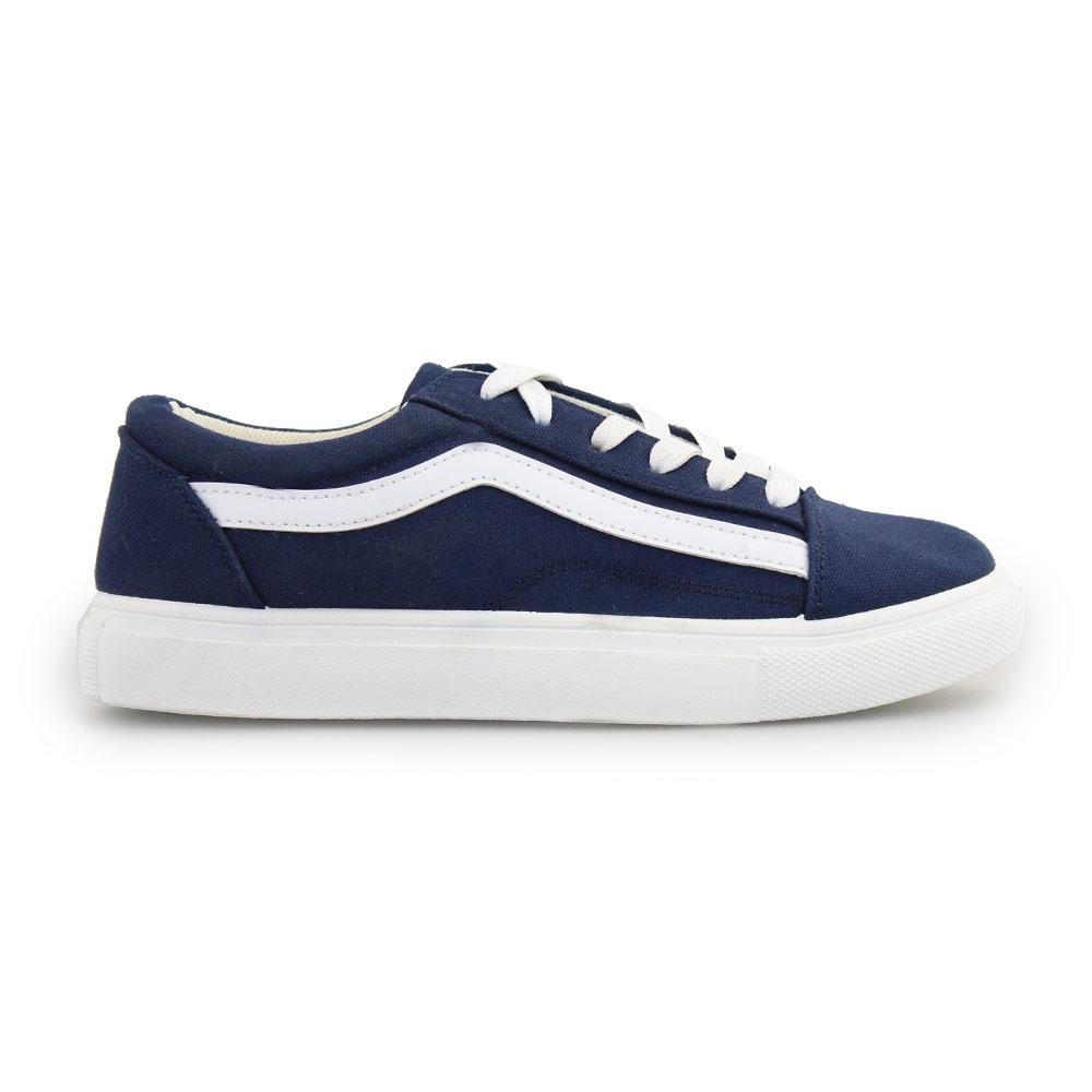 Γυναικεία sneakers με λευκή ρίγα Μπλε