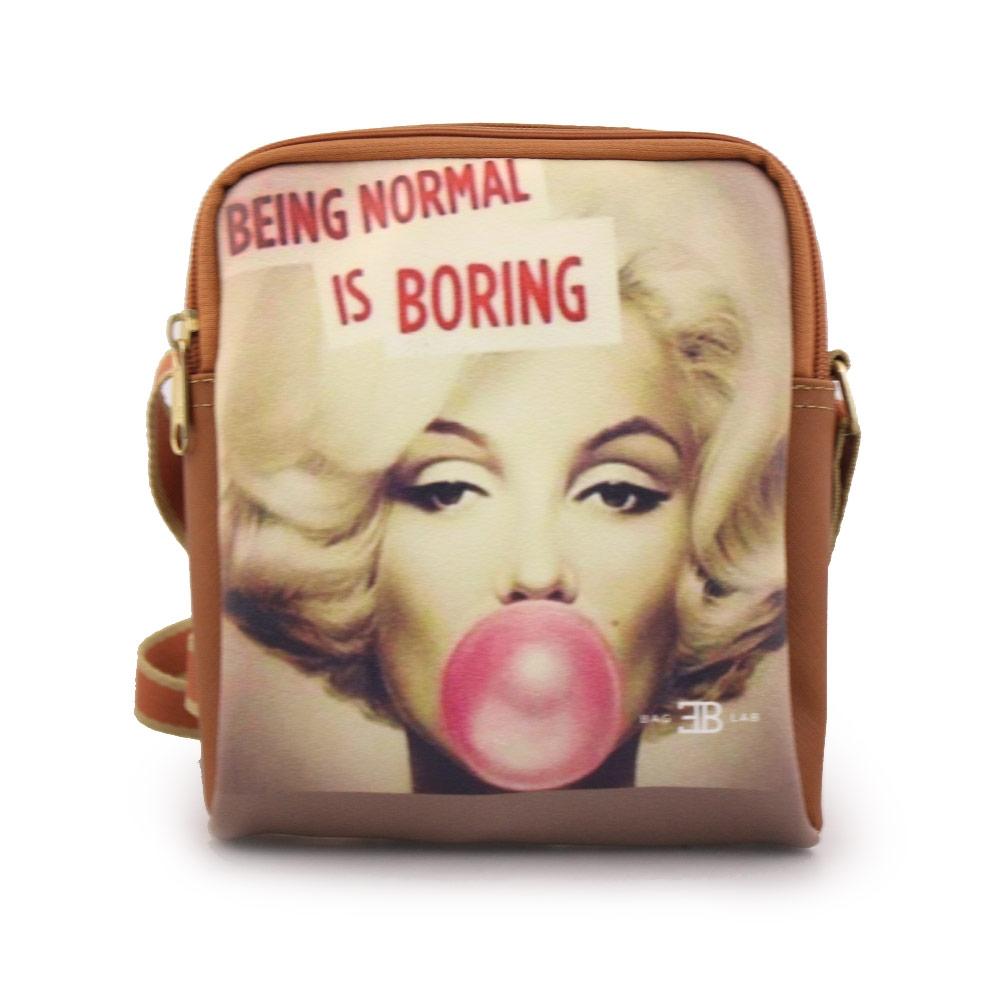 Γυναικείες τσάντες ώμου με print Marilyn Ταμπά