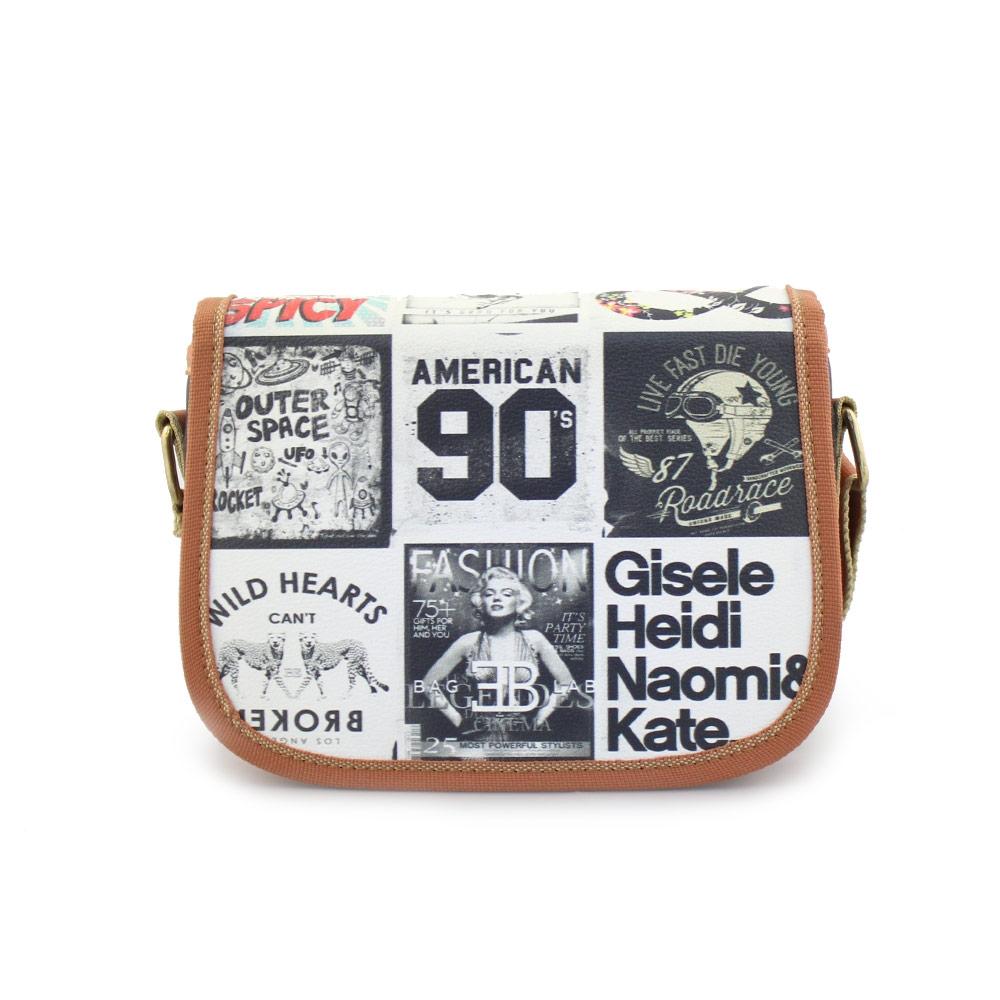 Γυναικείες τσάντες ώμου με τύπωμα Μαύρο