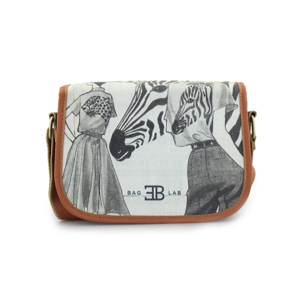 Γυναικείες τσάντες ώμου με print Μαύρο
