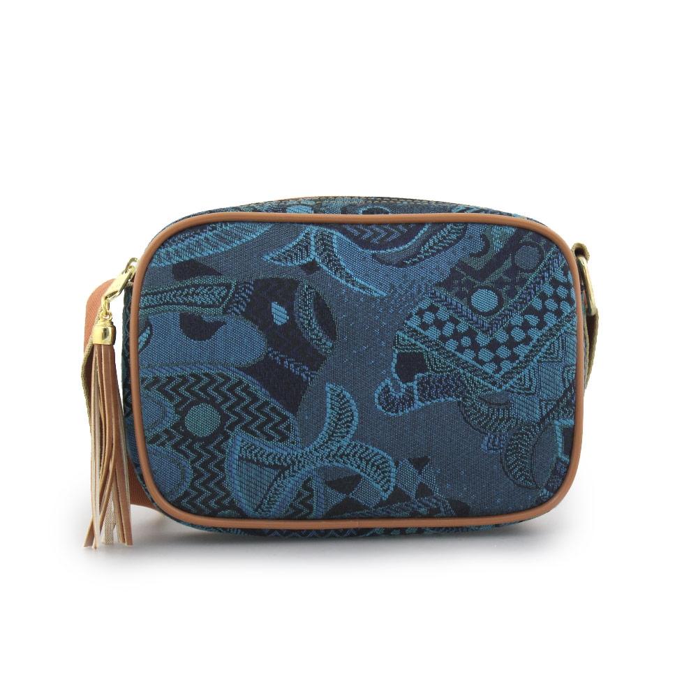 Γυναικείες τσάντες ώμου με σχέδια Μπλε