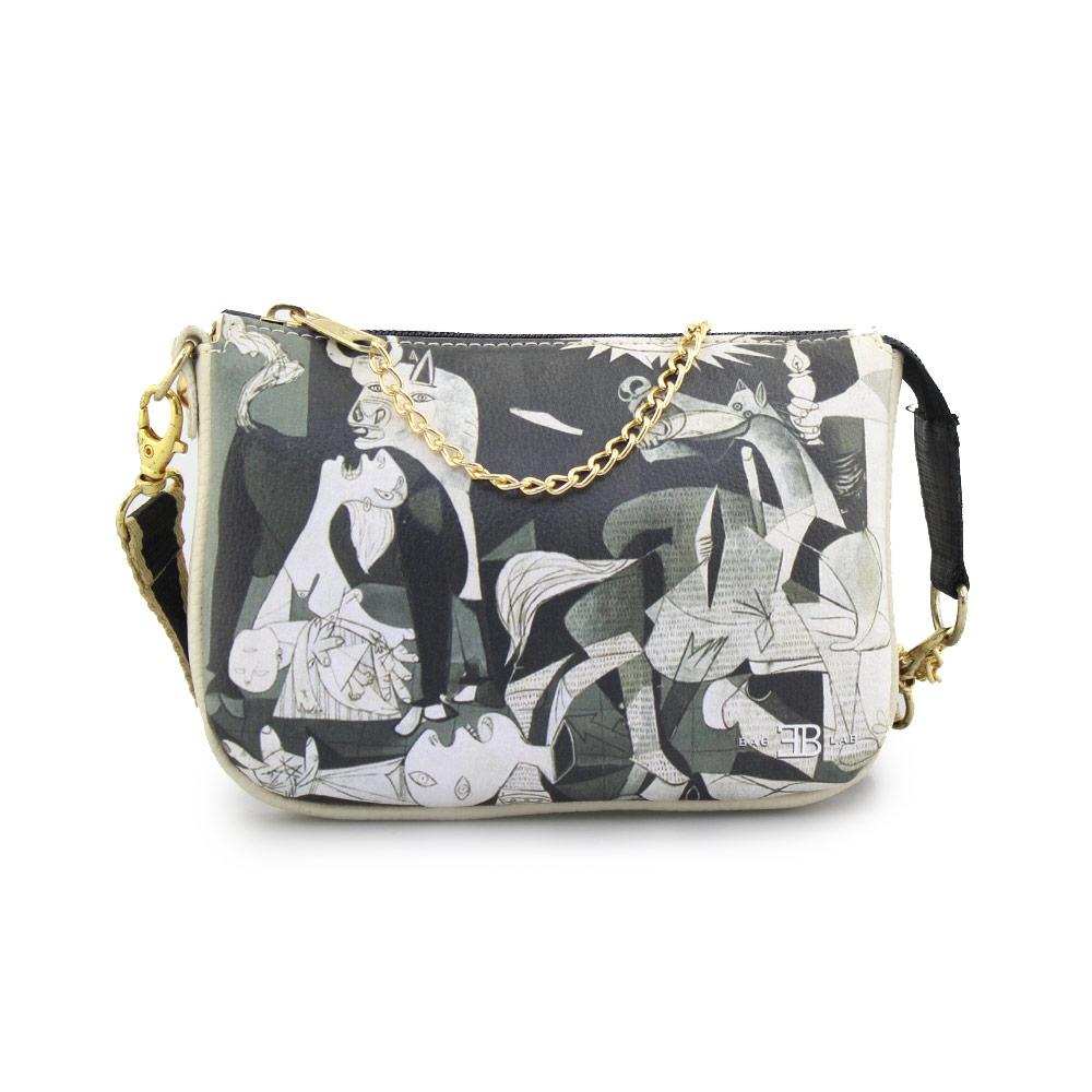Γυναικείες τσάντες ώμου με πίνακα Picasso Μπεζ