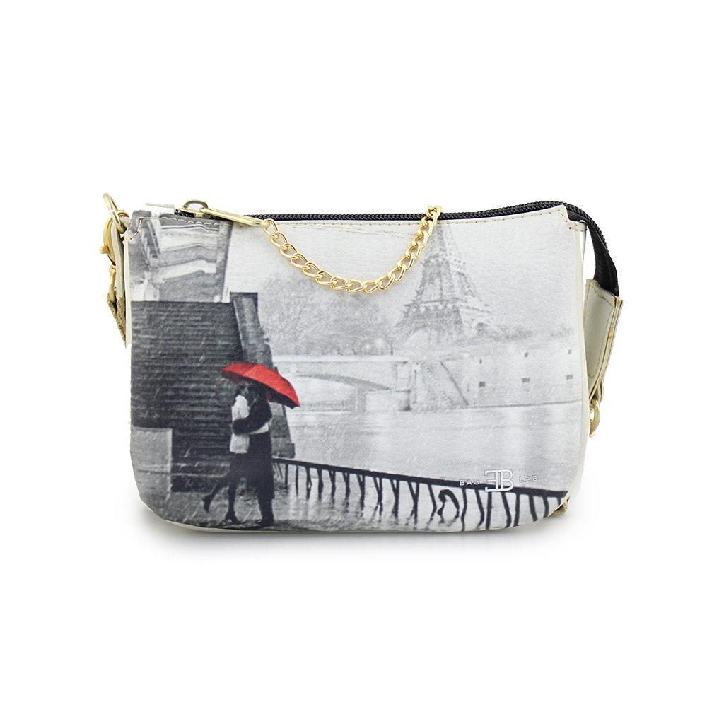 Γυναικείες τσάντες ώμου με print Paris Πάγου