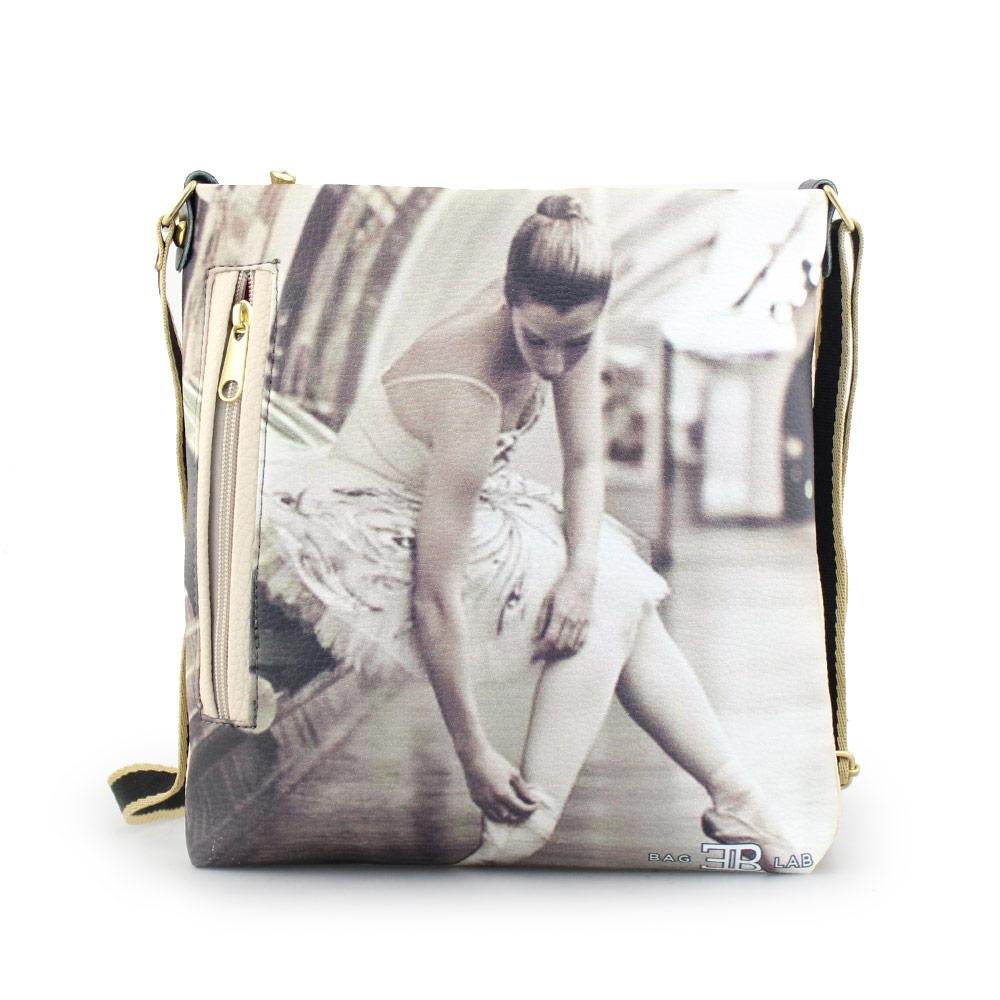 Γυναικείες τσάντες ώμου με μπαλαρίνα Μπεζ