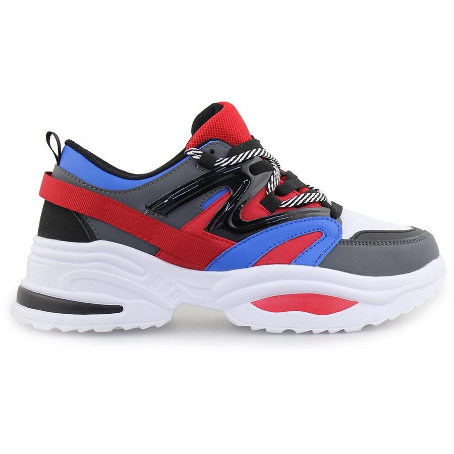 Ανδρικά sneakers με ριγέ κορδόνια Multi
