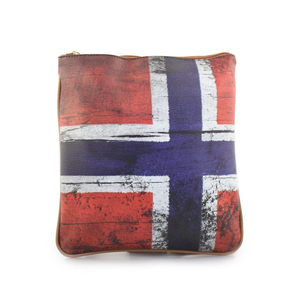 Γυναικείες τσάντες ώμου με σημαία Κόκκινο