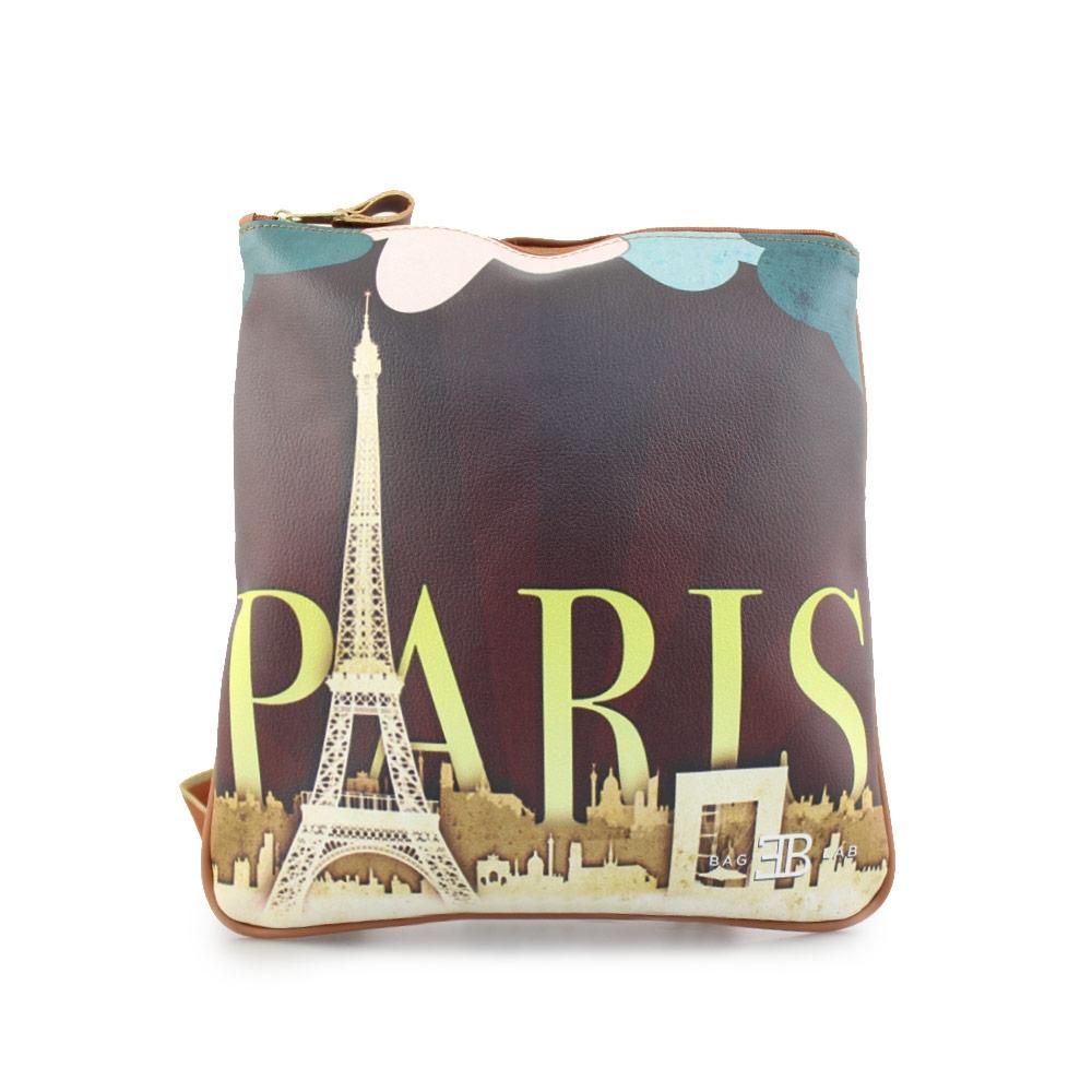 Γυναικείες τσάντες ώμου με print Paris Ταμπά