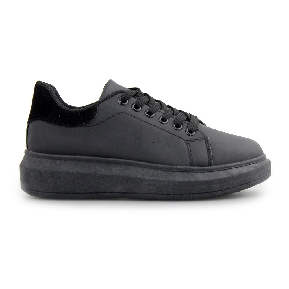 Γυναικεία sneakers μονόχρωμα με λεπτομέρεια Μαύρο