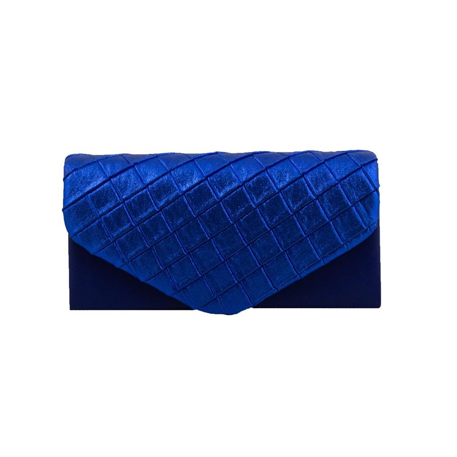 Γυναικείοι φάκελοι με μεταλλιζέ λεπτομέρεια Μπλε