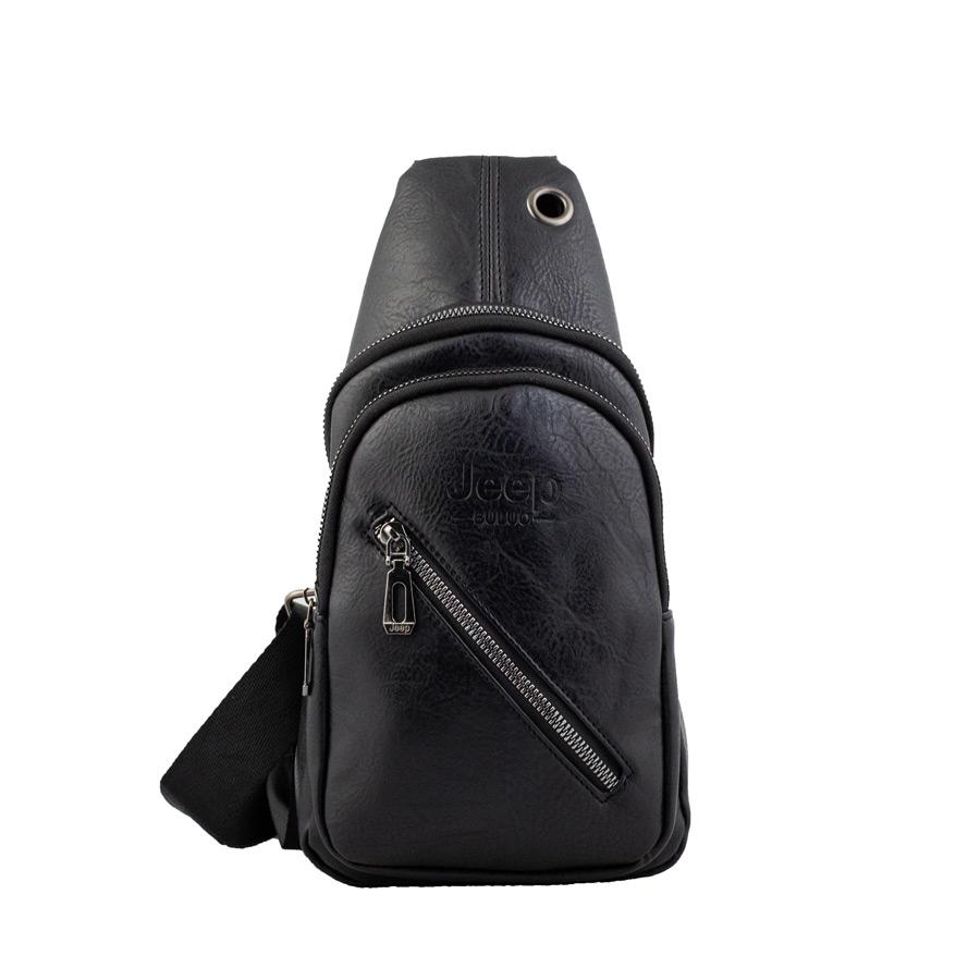 Ανδρικές τσάντες ώμου χιαστί με εξωτερική θήκη Μαύρο