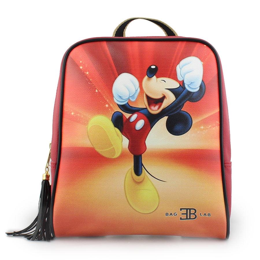 Γυναικεία σακίδια πλάτης με τον Mickey mouse Κόκκινο