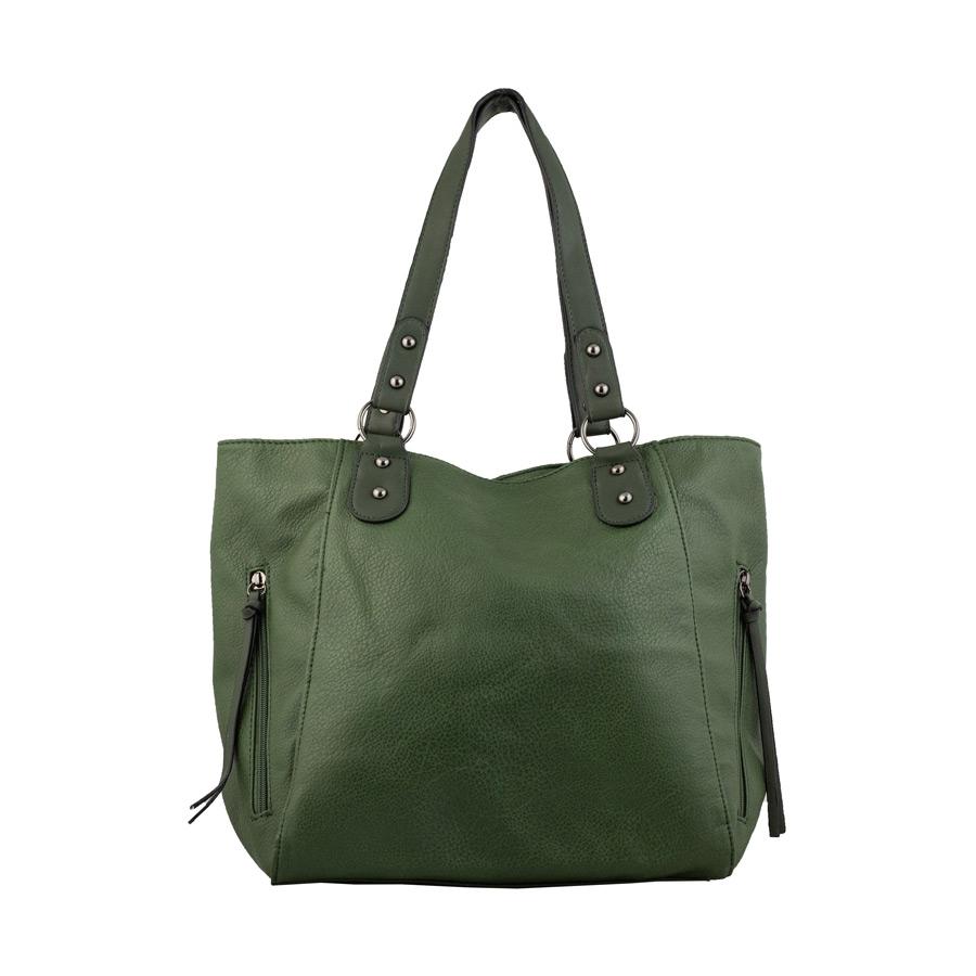 Γυναικείες τσάντες χειρός με εξωτερικές θήκες Πράσινο