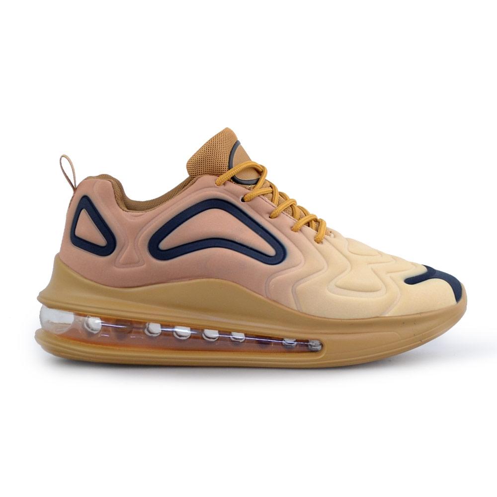 Ανδρικά sneakers με αερόσολα και ανάγλυφα σχέδια Χρυσό