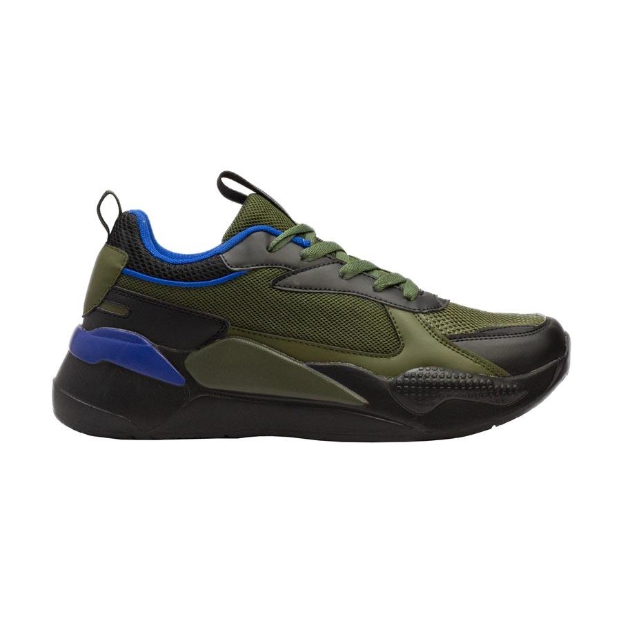 Ανδρικά sneakers με δίχρωμο σχέδιο Πράσινο/Μαύρο
