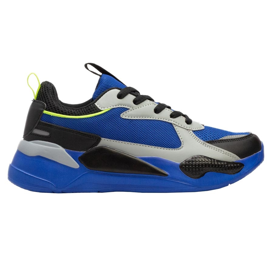 Ανδρικά sneakers με δίχρωμο σχέδιο Μπλέ/Γκρι