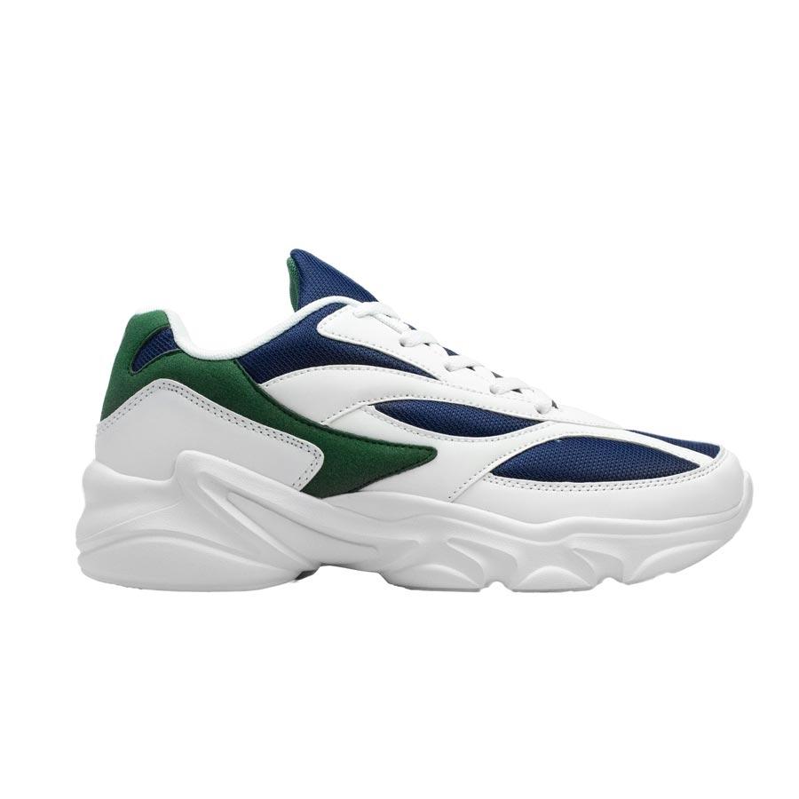 Ανδρικά sneakers με ανάγλυφες λεπτομέρειες Λευκό/Μπλε