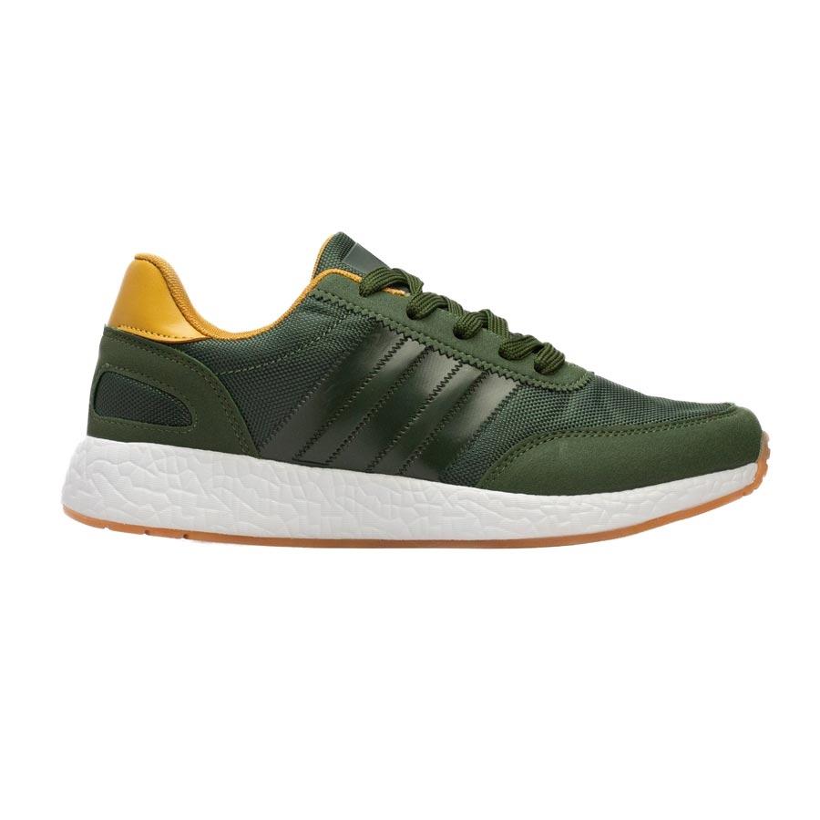 Ανδρικά sneakers με ανάγλυφες λεπτομέρειες Πράσινο
