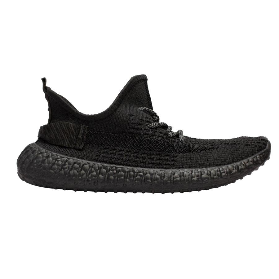 Ανδρικά sneakers ελαστικά με λεπτομέρειες Μαύρο