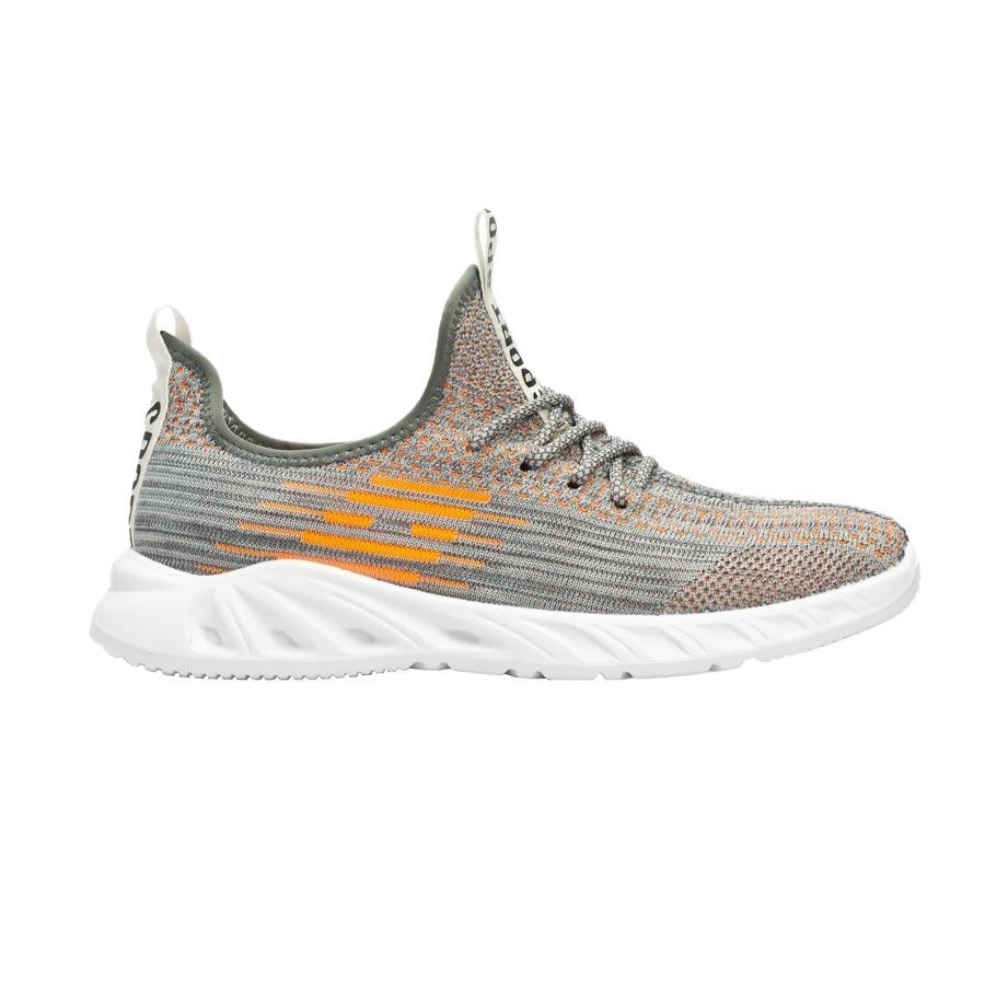 Ανδρικά sneakers με δίχρωμες λεπτομέρειες Λευκό/Γκρι