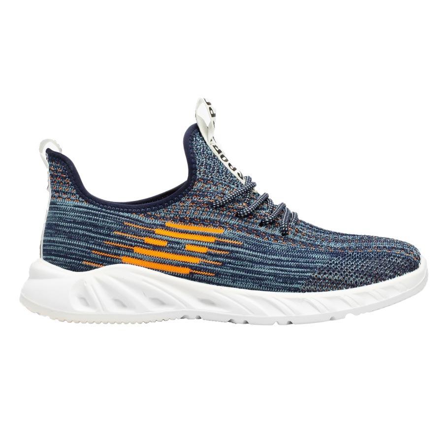 Ανδρικά sneakers με δίχρωμες λεπτομέρειες Λευκό/Μπλε